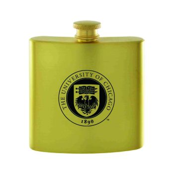 University of Chicago-Contemporary Metals Flask-Gold