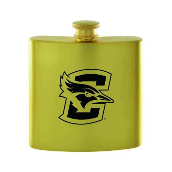 Creighton University-Contemporary Metals Flask-Gold