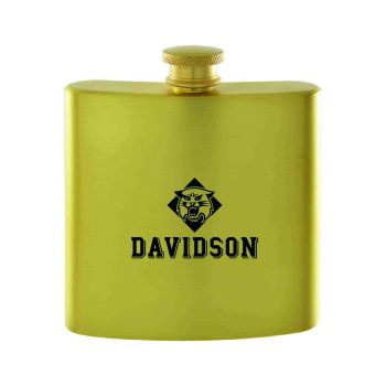 Davidson College-Contemporary Metals Flask-Gold