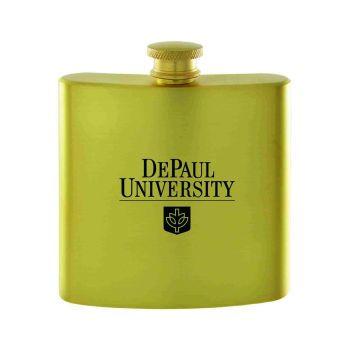 DePaul University-Contemporary Metals Flask-Gold