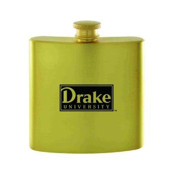 Drake University-Contemporary Metals Flask-Gold