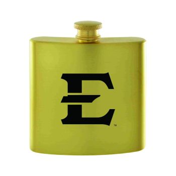 East Tennessee State University-Contemporary Metals Flask-Gold