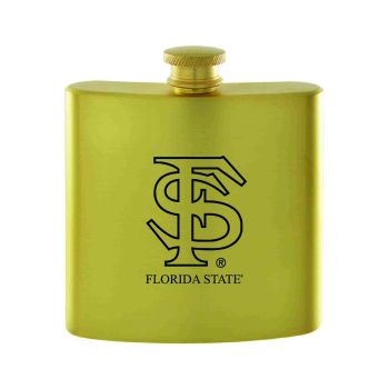 Florida State University-Contemporary Metals Flask-Gold