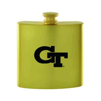 Georgia Institute of Technology-Contemporary Metals Flask-Gold