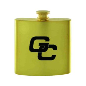 Georgia College-Contemporary Metals Flask-Gold