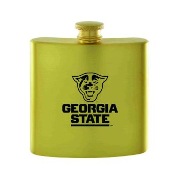 Georgia State University -Contemporary Metals Flask-Gold