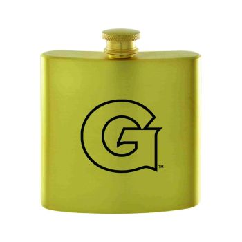 Georgetown University-Contemporary Metals Flask-Gold
