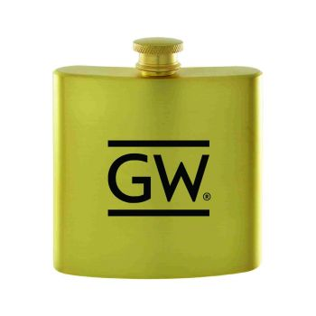 George Washington University -Contemporary Metals Flask-Gold