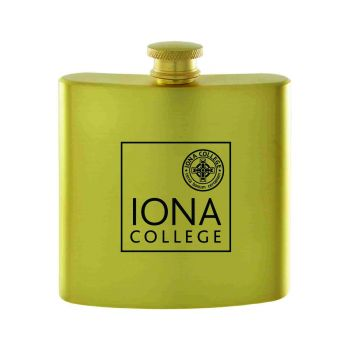 Iona College-Contemporary Metals Flask-Gold