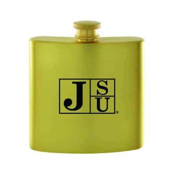 Jacksonville State University-Contemporary Metals Flask-Gold