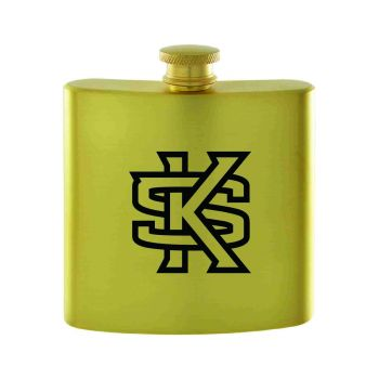 Kennesaw State University-Contemporary Metals Flask-Gold