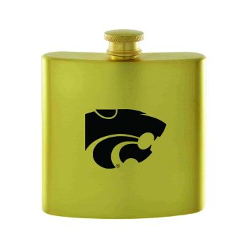 Kansas State University-Contemporary Metals Flask-Gold