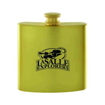 La Salle State University-Contemporary Metals Flask-Gold