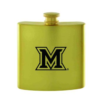 Miami University -Contemporary Metals Flask-Gold