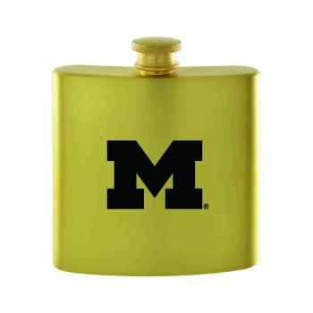 University of Michigan-Contemporary Metals Flask-Gold