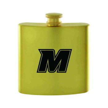 Monmouth University-Contemporary Metals Flask-Gold