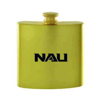 Northern Arizona University-Contemporary Metals Flask-Gold