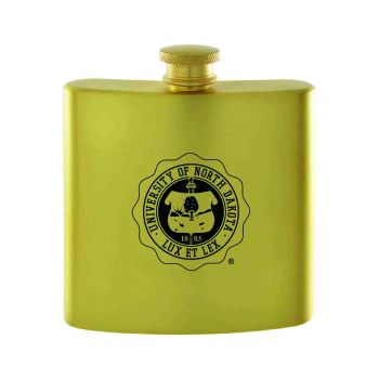 University of North Dakota-Contemporary Metals Flask-Gold