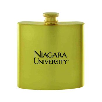 Niagara University-Contemporary Metals Flask-Gold