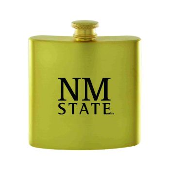 New Mexico State-Contemporary Metals Flask-Gold