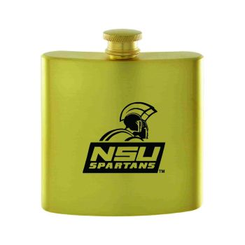 Norfolk State University-Contemporary Metals Flask-Gold