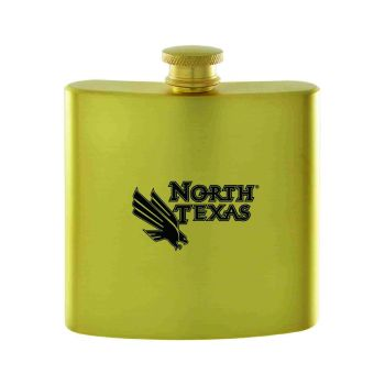 University of North Texas-Contemporary Metals Flask-Gold