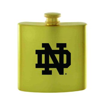 University of Notre Dame-Contemporary Metals Flask-Gold