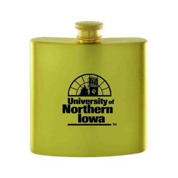 University of Northern Iowa-Contemporary Metals Flask-Gold