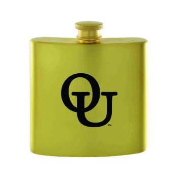 Oakland University-Contemporary Metals Flask-Gold