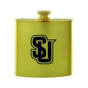 Seattle University-Contemporary Metals Flask-Gold