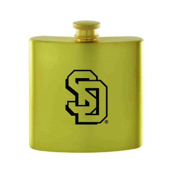 University of South Dakota-Contemporary Metals Flask-Gold