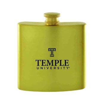 Temple University-Contemporary Metals Flask-Gold
