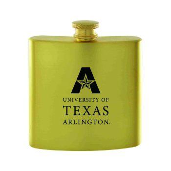 University of Texas at Arlington-Contemporary Metals Flask-Gold