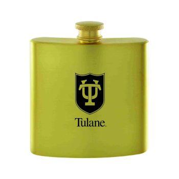 Tulane University-Contemporary Metals Flask-Gold