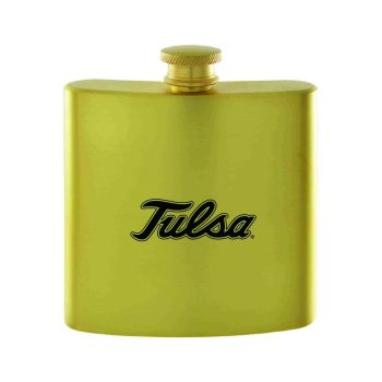 University of Tulsa-Contemporary Metals Flask-Gold