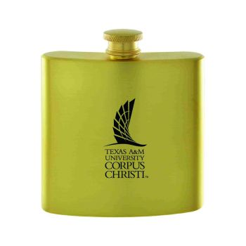 Texas A&M University-Corpus Christi-Contemporary Metals Flask-Gold