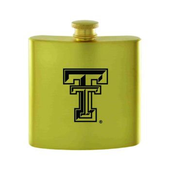 Texas Tech University-Contemporary Metals Flask-Gold