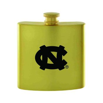 University of North Carolina-Contemporary Metals Flask-Gold