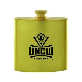 University of North Carolina Wilmington-Contemporary Metals Flask-Gold