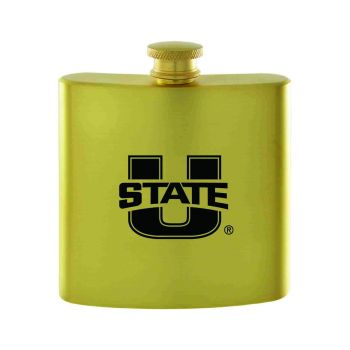 Utah State University-Contemporary Metals Flask-Gold