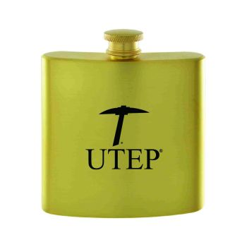 The University of Texas at El Paso -Contemporary Metals Flask-Gold