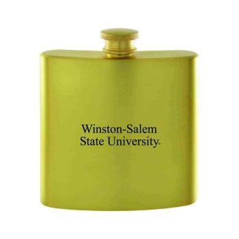 Winston-Salem State University-Contemporary Metals Flask-Gold