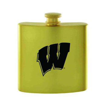 University of Wisconsin-Contemporary Metals Flask-Gold