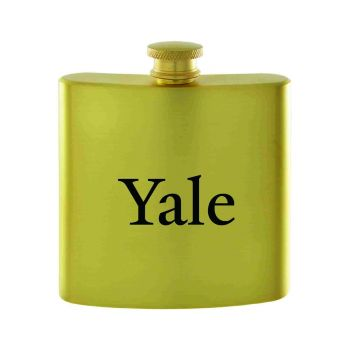 Yale University-Contemporary Metals Flask-Gold