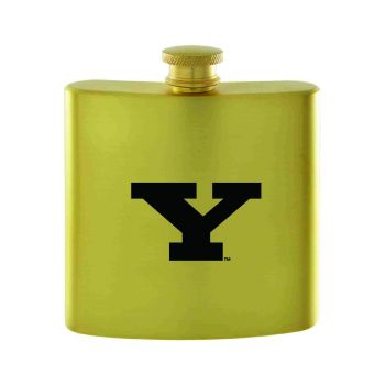 Youngstown State University-Contemporary Metals Flask-Gold