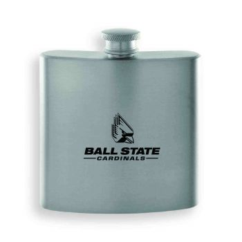 Ball State University-Contemporary Metals Flask-Silver
