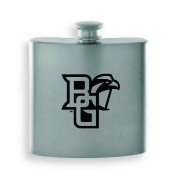 Bowling Green State University-Contemporary Metals Flask-Silver