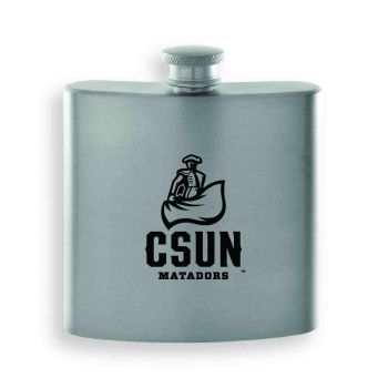 California State University, Northridge-Contemporary Metals Flask-Silver
