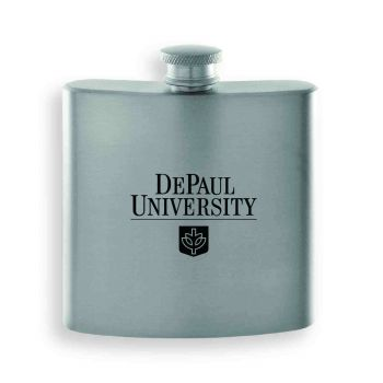 DePaul University-Contemporary Metals Flask-Silver