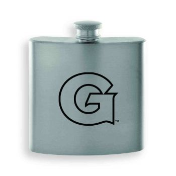 Georgetown University-Contemporary Metals Flask-Silver